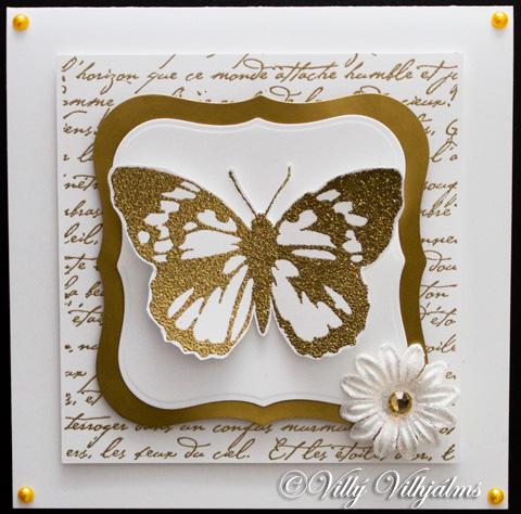 villý vilhjálms gyllt afmæliskort / golden birthday card, Birthday card
